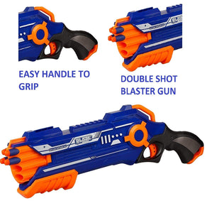 Toyshine Pump Action Dual Foam Blaster Gun, Shoots 2 Darts at Once with 20 Foam Darts Free Toy for Boys Unbreakable Gun Toy-2
