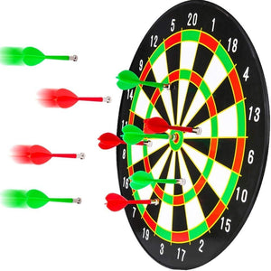 Toyshine Magnetic Dartboard Board Game Set - Bullseye Dartboard,14 Inch Dart Board with 6 pcs Safe Darts (SSTP)