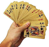 Toyshine Gold-Plated Poker Cards, Black Colour, Classic PVC Poker Table Cards