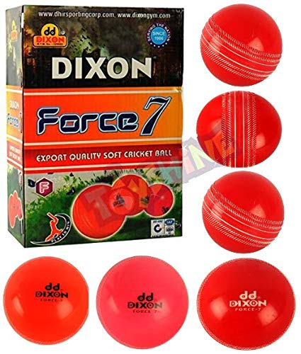 Toyshine Force 7 Dixon Professional Grade Cricket Wind Ball (Pack of 6)