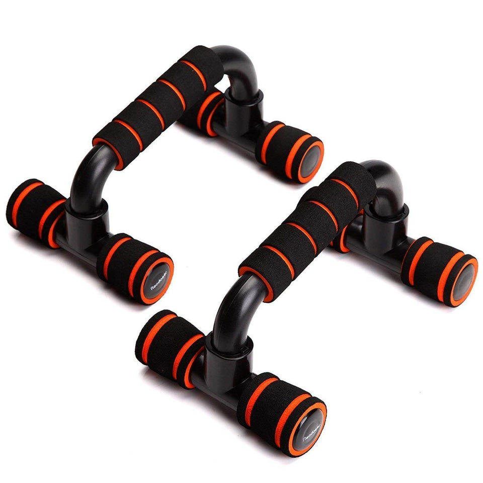 Toyshine Sports Push-up Bars Stand with Comfortable Foam Grip, Non-Slip Bars - Safe, Sturdy and Less Wrist Strain - 2