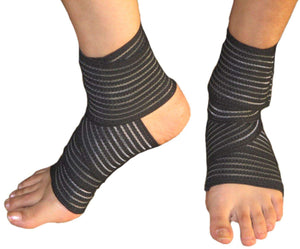 Toyshine Ankle Support for Women Men - Pain Relief Sports Brace Cap Sleeve wrap Straps Band Ligament Injuries Fracture Gym Running Basketball Free Size (SSTP)
