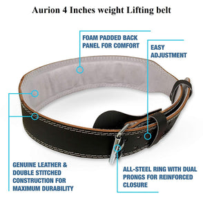 Toyshine Weightlifting Belt, Back Support Power Training Belt, Power Lifting Squat Gym Belt for Men and Women (SSTP)