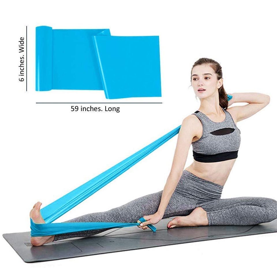Toyshine Yoga Straps, Natural Latex Strap Exercise Equipment, Perfect for Strength Training, Physical Therapy and Yoga (SSTP)