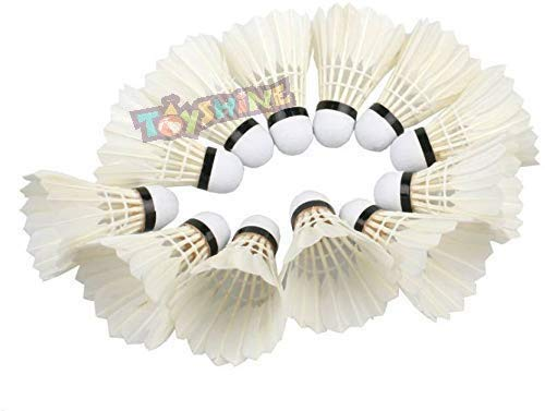 Toyshine Badminton Feather Shuttlecock, Pack of 10 (SSTP)