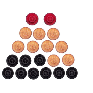 Toyshine Carrom Coins,20 Wooden Coins and 1 Striker, (Striker in Assorted Color) (SSTP)
