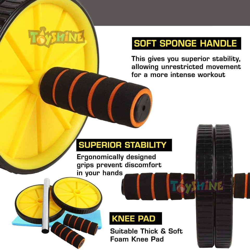 Toyshine Wheel Exerciser for Abs Workout, Abdominal Roller for Home Workout Equipment (SSTP)