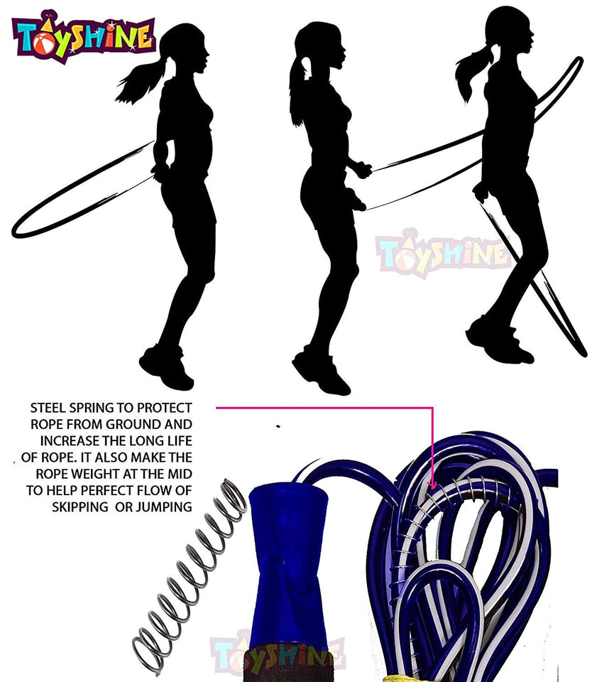 Toyshine 4 in 1 Super Fitness Combo | Toning Tube, Push Up Bars, Skipping Rope, Hand Grip | Weight Loss Fitness Training Workout - 2 (SSTP)