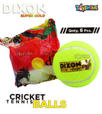 Toyshine Dixon Super Gold Light Cricket Tennis Balls to Play Indoor/Outdoor- Pack of 12 , (SSTP)