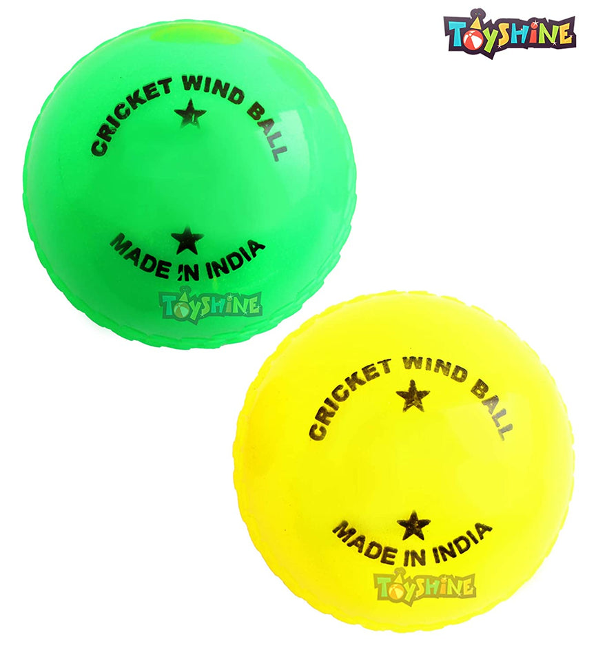 Toyshine Cricket Wind Balls, Practice Beach Indoor Outdoor Wind Ball, Pack of 12 pc (Sports-27)