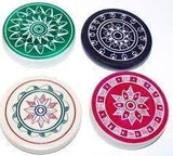 Toyshine Standard Size Carrom Tournament Striker with Excellent Re-Bounce, Pack of 3 (Sports-25)