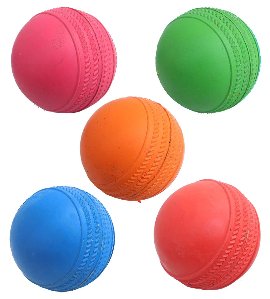 Toyshine Cricket Rubber Balls for Cricket, Pack of 10 (SSTP)