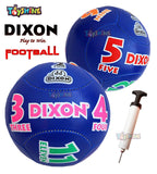 Toyshine Dixon Football Combo Pack of 5 (4 Footballs and 1 Pump) Size 3, Multicolor(SSTP)