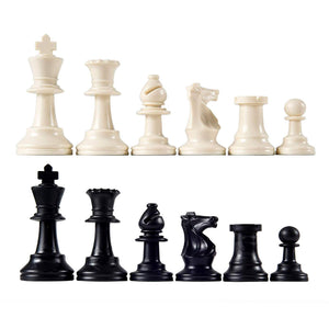 Toyshine Chess Vinyl Foldable Chess Game-for Professional Chess Players -Black and White (SSTP)