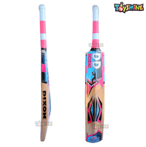 Toyshine Dixon Free Hit Kashmir Willow Cricket Bat (Size: Short Handle,Leather Ball) (SSTP)
