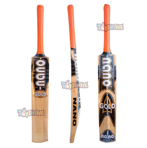 Toyshine Dixon Nano Gold Kashmir Willow Cricket Bat (Size: Short Handle,Leather Ball) (SSTP)