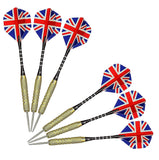 Toyshine Professional Quality Steel Tip Darts Set 18 Grams with Flghts Aluminum Shafts,Brass Barrels (Set of 6 pc) (SSTP)