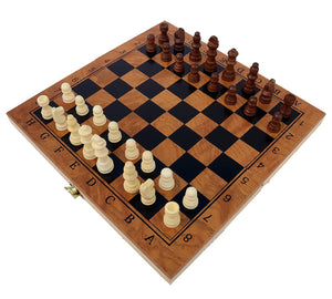 Toyshine Wooden Foldable Strategy Chess Board Game (29.5cmx4cmx15cm) Small (SSTP)