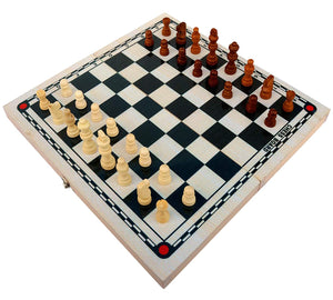 Toyshine Wooden Foldable Strategy Chess Board Game (37x36x5.5cm) (SSTP)