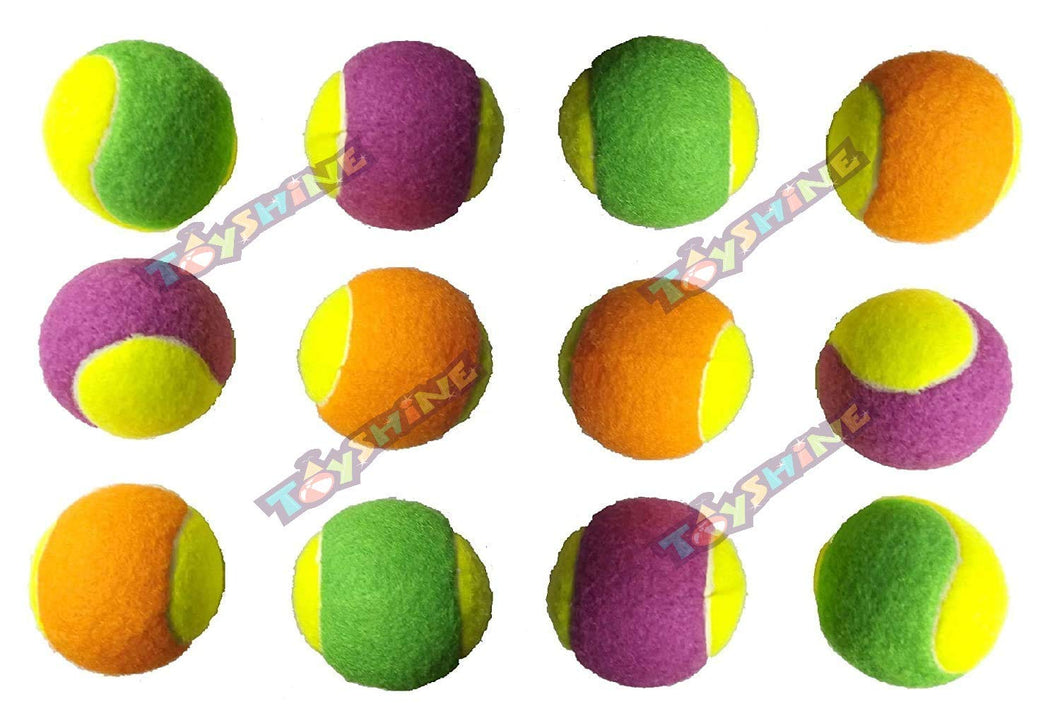 Toyshine Light Weight Cricket Tennis Ball (Multicolor) (Pack of 12) (SSTP)