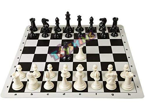 Toyshine Roll on Chess Board Game, 18-inch (White and Black) (SSTP)