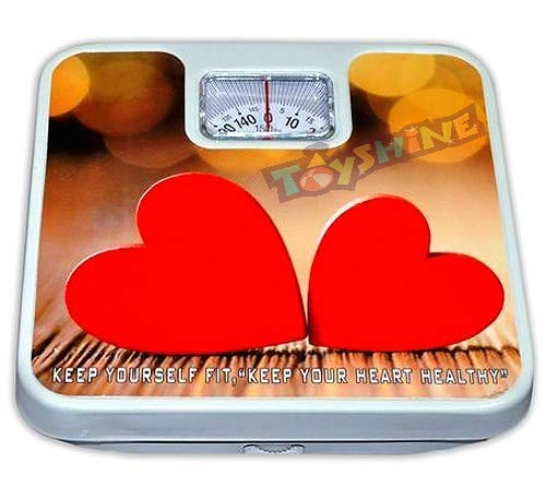 Toyshine Deluxe Mechanical Weighing Machine/Scale Upto 130 Kgs Capacity, Mix-Color (SSTP)