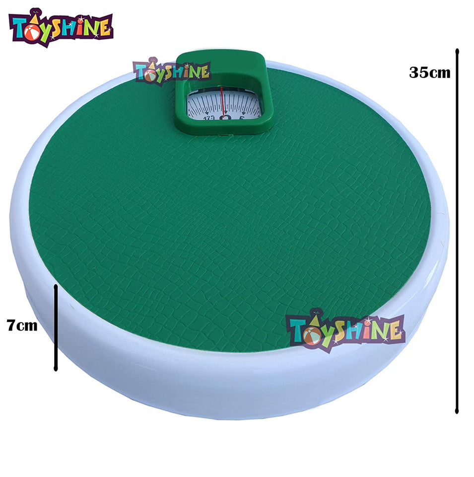 Toyshine Personal Weighing Scale Adjustable (Round) Shape, Capacity: 130KG (SSTP)