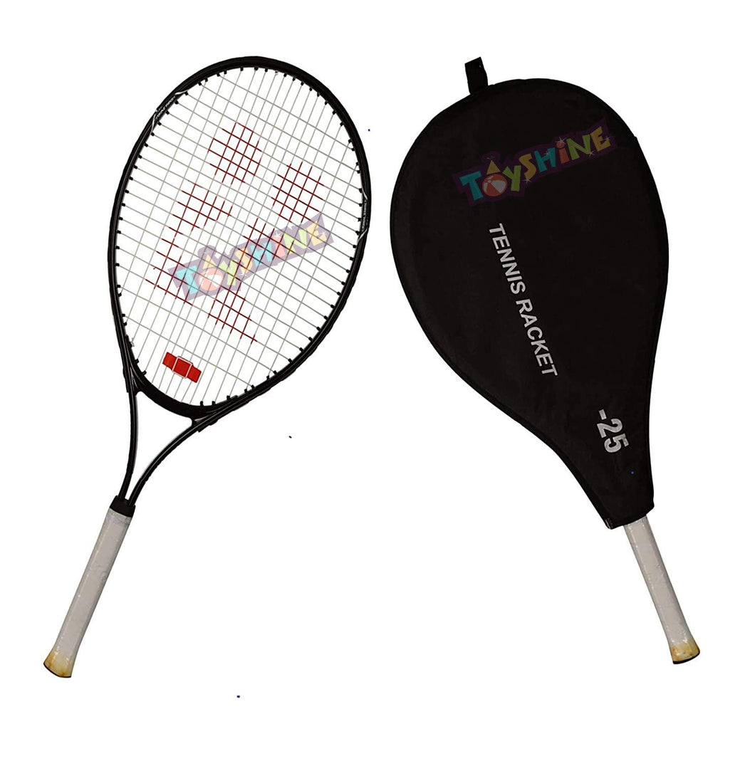 Toyshine Power 25 Professional Tennis Racquet,Good Control Grip,Strung with Cover (Aluminium),Color May Vary (SSTP)