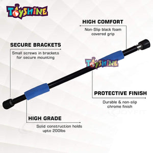 Toyshine Solid Construction Chin Up Bar for Workout, Fitness & Exercise Equipment for Home Gym - Multicolor (SSTP)