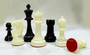 Toyshine Tournament Chess Set (CS-52) with Plastic Filled Chessmen and Green Roll-Up Vinyl Mat (SSTP)
