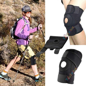 Toyshine Knee Support, Open-Patella Stabilizer & Fully-Adjustable Neoprene Brace – Arthritic Pain Relief, Sports Injury Rehabilitation & Protection Against Reinjury - Black (SSTP)