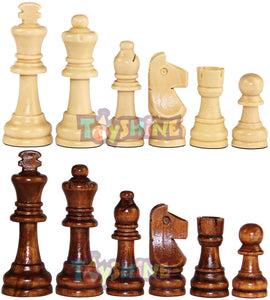 Toyshine Wooden Chess Pieces, Tournament Wood Chessmen Pieces Only, (7 cm King Figures )Chess Game Pawns Figurine Pieces, Color May Vary (SSTP)