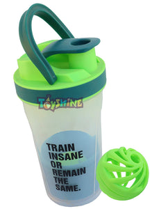 Toyshine Fitness Gym Sipper Protein Shaker, Stirring Ball/Mixing net and Storage Box, Color as per Availability (SSTP)