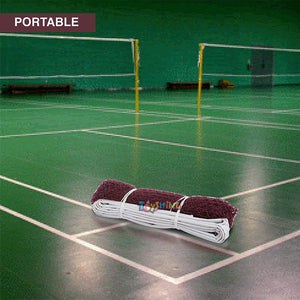 Toyshine Nylon Special Four Side Tape Badminton Net (Brown) (SSTP)