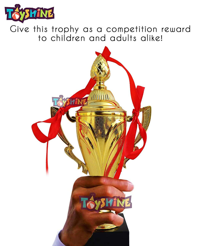 Toyshine Cup Award Trophy with Ribbon for Party Celebrations, Ceremony, Appreciation Gift, Sport, Academy, Awards - Pack of 12 (SSTP)