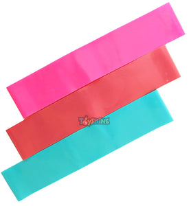 Toyshine Skin Friendly Fitness Exercise Loop Bands, for CrossFit & Training, Pack of 3, Color as per Availability (SSTP)