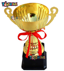 Toyshine Golden Champion Trophy for Sports Academy ,Awards, Pack of 12 (SSTP)