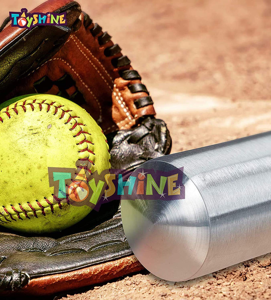 Toyshine Light Weight , Non-Slip Alloy Steel Baseball Bat Metal Baseball Stick (80CM) Color May Vary (SSTP)