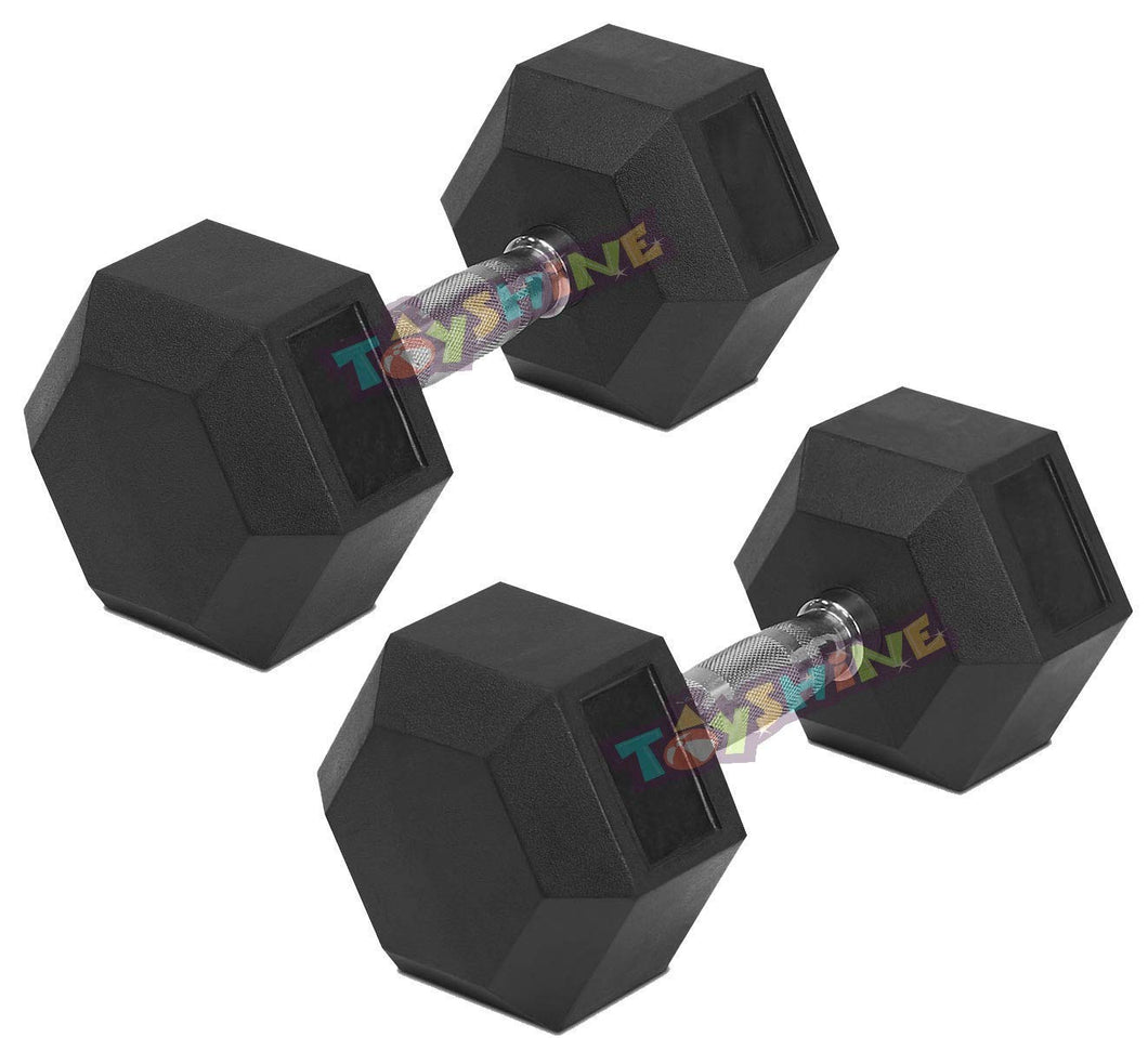 Toyshine Gym Fitness Hex Rubber Coated Professional Dumbbells, (7.5KG*2PC=15KG) (SSTP)