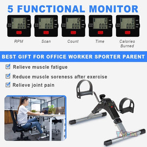 Toyshine Digital Display Meter, Pedal Exerciser, Foldable Mini Fitness Cycle, Color as per Availability (SSTP)