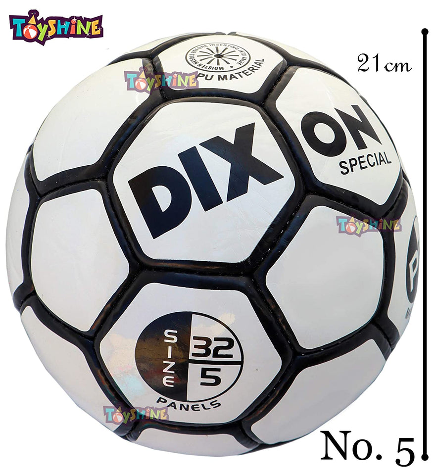 Toyshine Sports PU Material White Black Football (Size 5) with Air Pump for Outdoor Training - Multicolor (SSTP)
