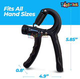 Toyshine Adjustable (Black) Hand Grip for Forearm, Finger Exercise and Improving Strength & Training (Resistance Range 5-60 KG) (SSTP)