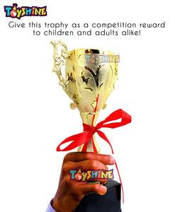 Toyshine Small (21cm), Gold Color Plated, Winner Trophy Award Cup, for Sport Events, (1893-C) (SSTP)