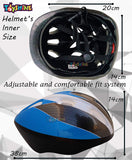Toyshine Multi-Purpose Helmet for Skateboard & Cycling, Adjustable & Lightweight,Multicolor(SSTP)