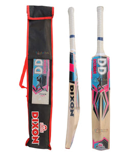 Toyshine Kashmiri Willow (Free Hit) Cricket Bat for Leather Ball Play with Carry Bag (SSTP)