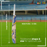 Toyshine All Rounder Selected Willow Cricket Bat for Tennis Ball Play, with Carry Bag (SSTP)