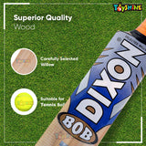 Toyshine Kashmiri Willow Cricket Bat (BOB), with Carry Bag for Leather Ball Play (SSTP)
