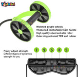 Toyshine Foldable Revoflex Ab Care Fitness, Ab Roller Wheel, for Muscle Training, Mix-Color (SSTP)