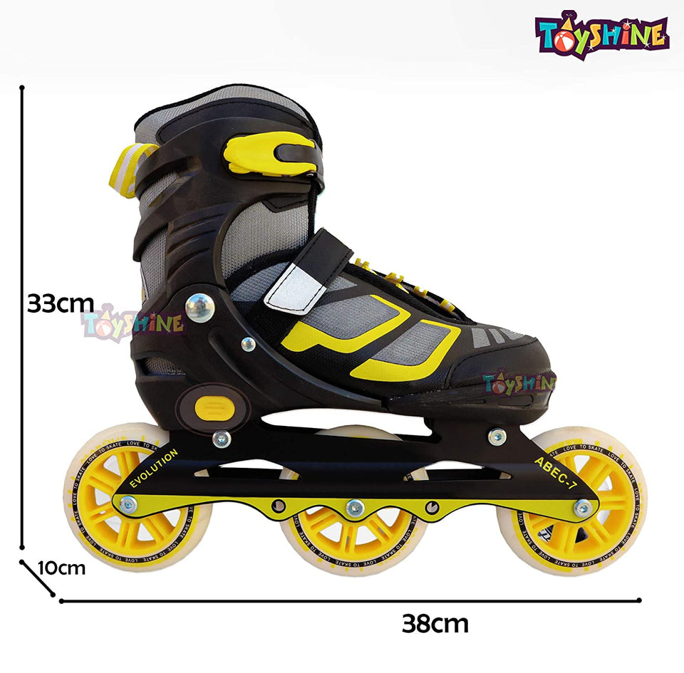 Toyshine 110mm Engage 3-Wheel Inline Adjustable Speed Skates, Color May Vary SSTP