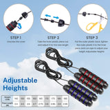 Toyshine Jump Rope for Fitness Heavy Weighted 8ft,10ft Tangle Free Ball Bearings Adjustable Skipping Rope, Color May Vary SSTP
